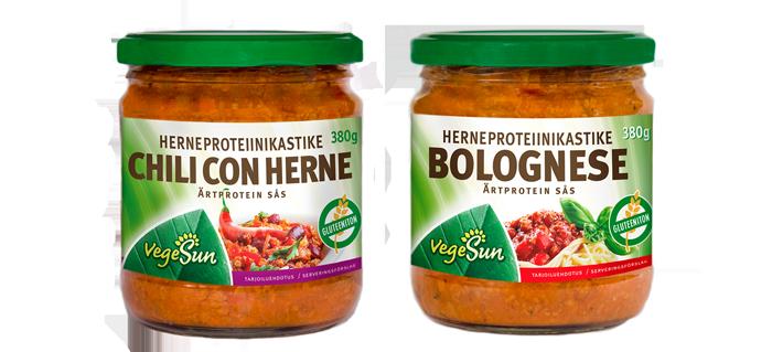 chili con herne ja bolognese vegesun
