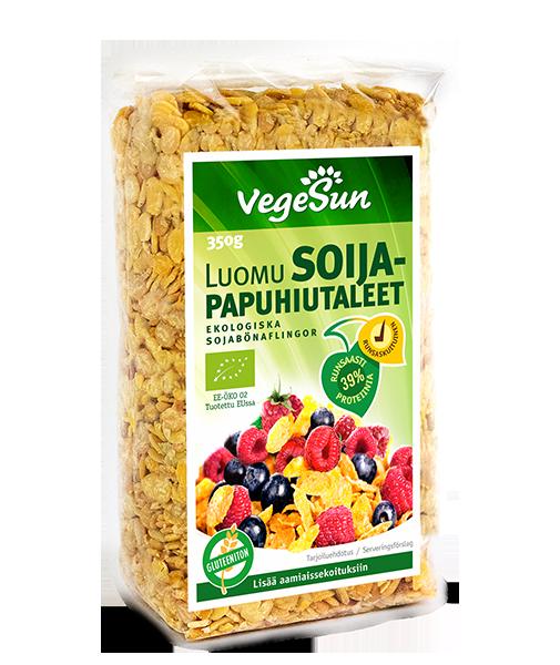 Organic soya bean flakes 350g